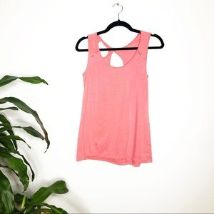 Lole Pink tank top with back knot size  M